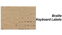 Braille Keyboard Labels