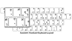 Sanskrit Language Keyboard Labels