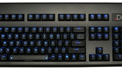 Deck Legend 105 Linear Blue Backlit Keyboard - Ice