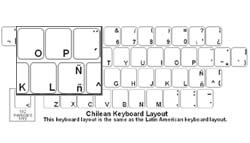 Chilean (Spanish) Language Keyboard Labels
