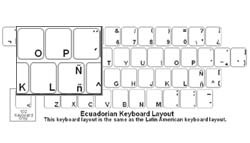 Ecuadorian (Spanish) Language Keyboard Labels