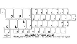 Venezuelan (Spanish) Language Keyboard Labels