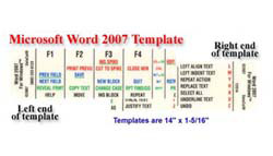 Microsoft Word 2007 Keyboard Template