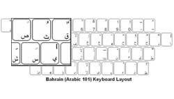 Bahrain (Arabic) Language Keyboard Labels