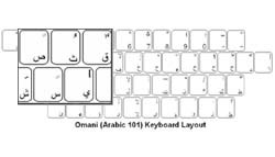 Omani (Arabic) Language Keyboard Labels
