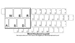 Maori Language Keyboard Labels