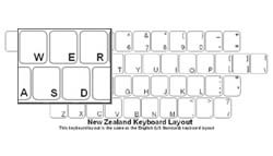 New Zealand Language Keyboard Labels