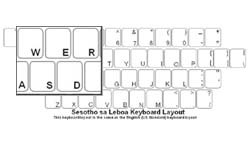 Sesotho sa Leboa (South Africa) Language Keyboard Labels