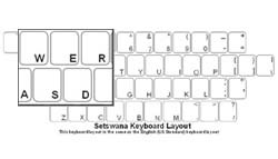 Setswana (South Africa) Language Keyboard Labels