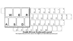 South African Language Keyboard Labels