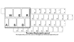 Tswana Language Keyboard Labels