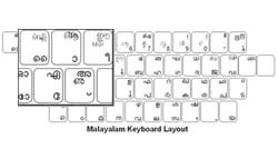 Malayalam Language Keyboard Labels