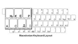 Macedonian Language Keyboard Labels