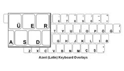 Azeri (Latin) Language Keyboard Labels