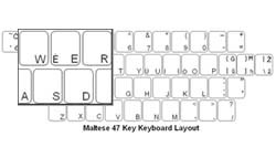 Maltese Language Keyboard Labels