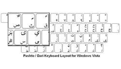 Dari Language Keyboard Labels