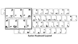 Syriac Language Keyboard Labels
