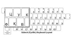 Uzbek (Cyrillic) Language Keyboard Labels