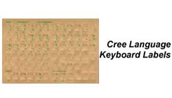 Cree Language Keyboard Labels