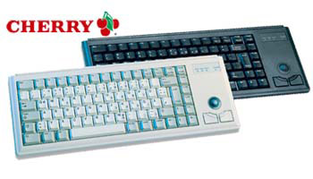 Cherry G84-4420LPBEU-2 Ultraslim Keyboard with Trackball