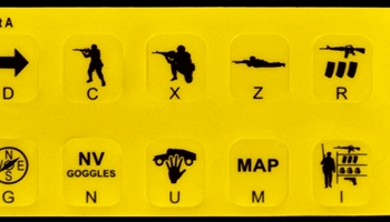 Virtual Battlestation Desktop Trainer Infantry Controls Keyboard Labels