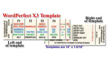 WordPerfect X3 Keyboard Template