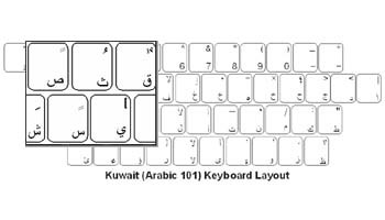 Kuwaiti (Arabic) Language Keyboard Labels