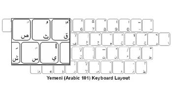 Yemani (Arabic) Language Keyboard Labels