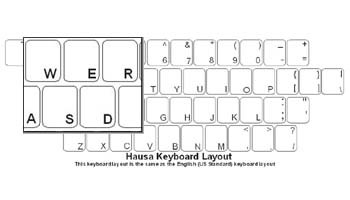 Hausa (Nigeria) Language Keyboard Labels