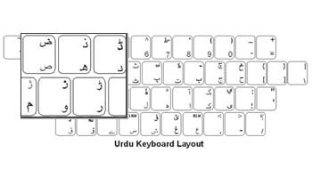 Urdu Language Labels+ Keyboard - PS/2 Conncector