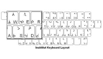 Inukitut Language Keyboard Labels