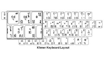 Khmer Language Keyboard Labels