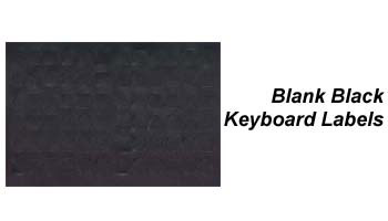 Blank Black Keyboard Labels